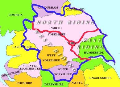 Genuki Maps Of Yorkshire